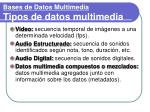 bases de datos multimedia tipos de datos multimedia1