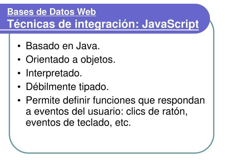 Bases de Datos Web