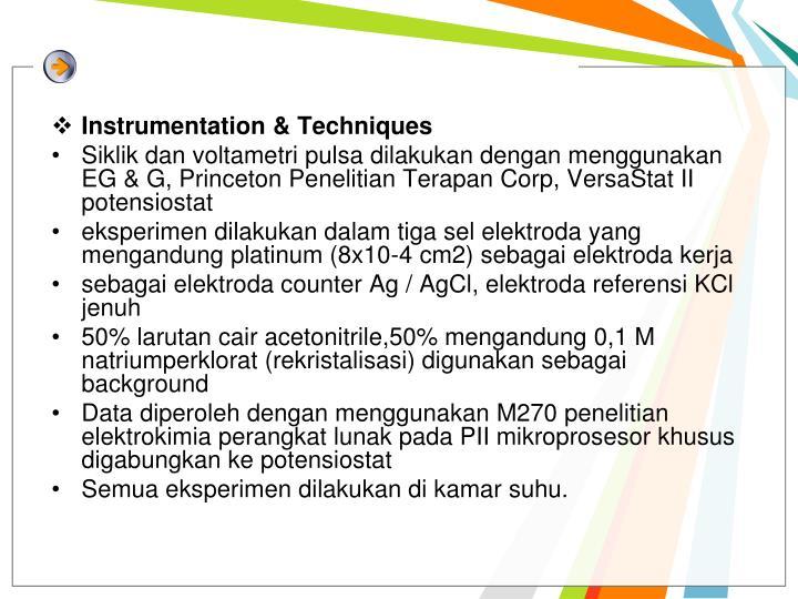 Instrumentation & Techniques