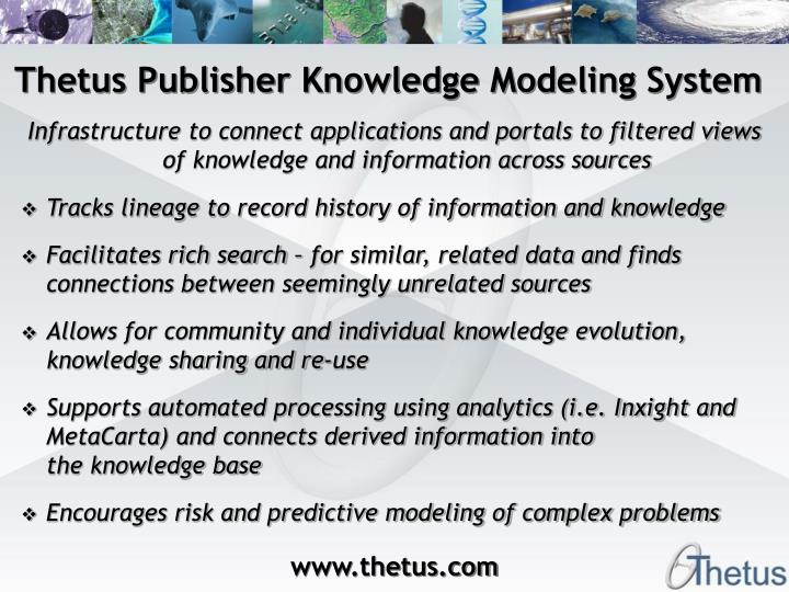 Thetus Publisher Knowledge Modeling System