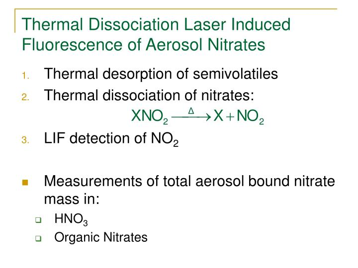 Thermal Dissociation Laser Induced Fluorescence of Aerosol Nitrates