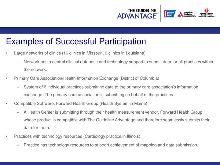Examples of Successful Participation