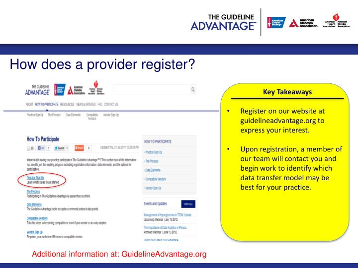 How does a provider register?