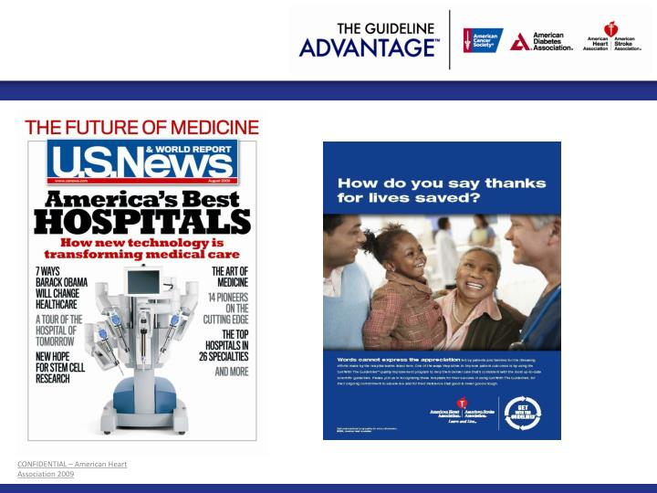 CONFIDENTIAL – American Heart Association 2009