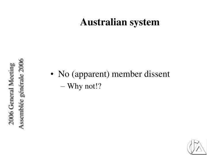 Australian system