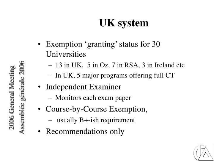 UK system
