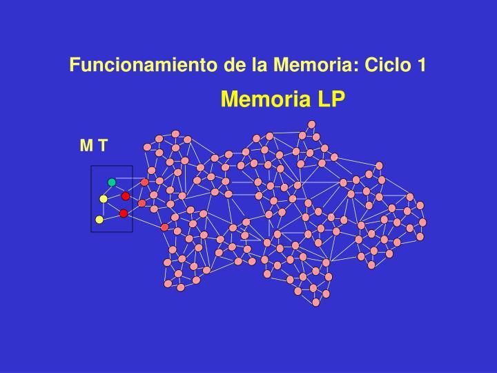 Funcionamiento de la Memoria: Ciclo 1