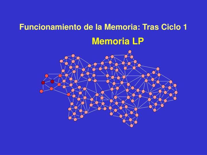 Funcionamiento de la Memoria: Tras Ciclo 1