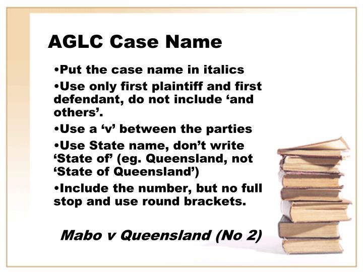 AGLC Case Name