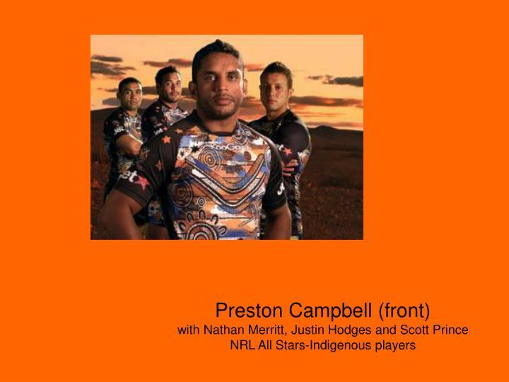 Preston Campbell (front)