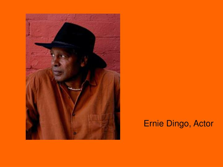 Ernie Dingo, Actor