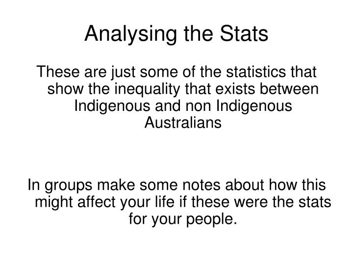 Analysing the Stats