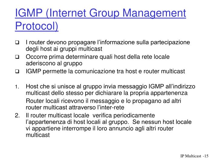 IGMP (Internet Group Management Protocol)