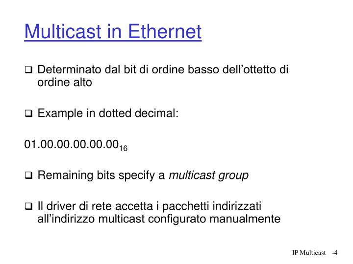 Multicast in Ethernet