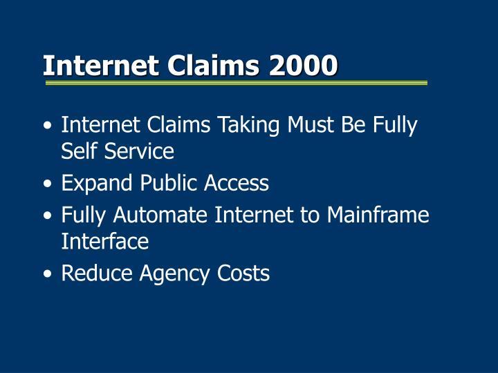 Internet Claims 2000