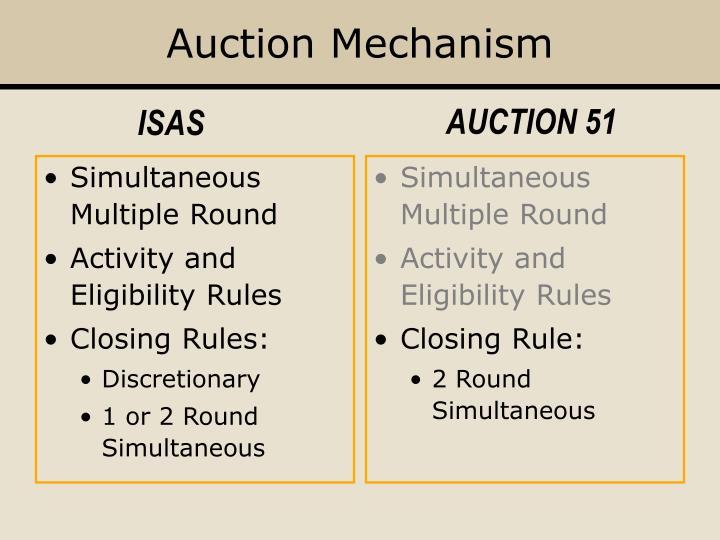 Auction Mechanism