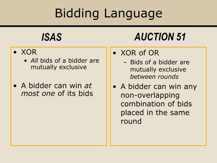 Bidding Language