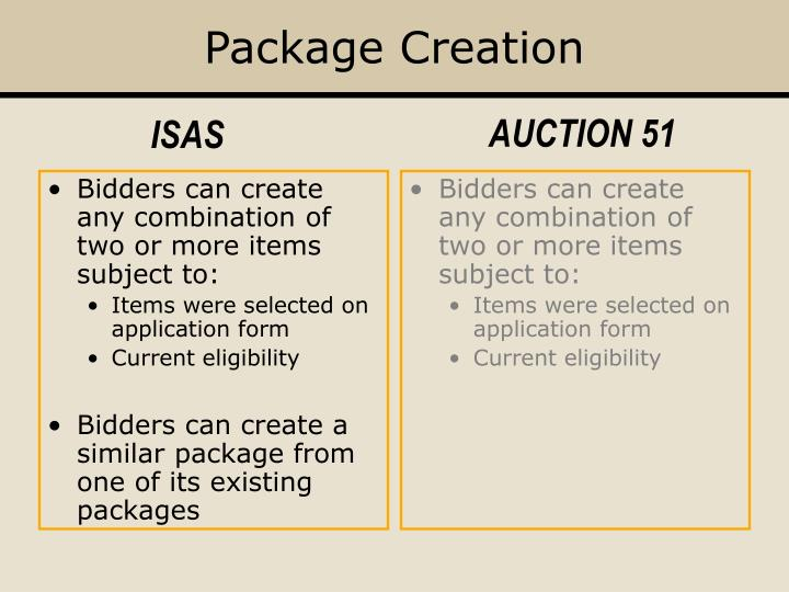 Package Creation