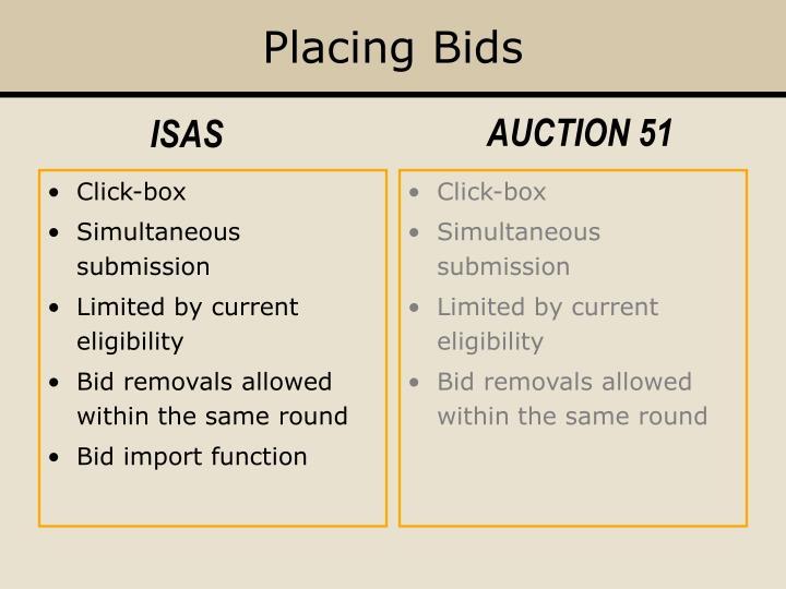 Placing Bids