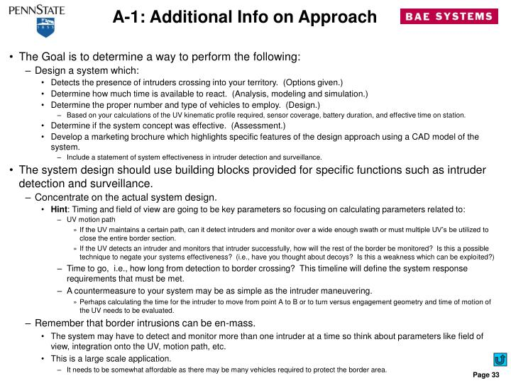 A-1: Additional Info on Approach