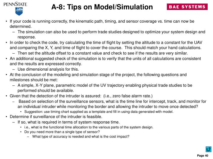 A-8: Tips on Model/Simulation