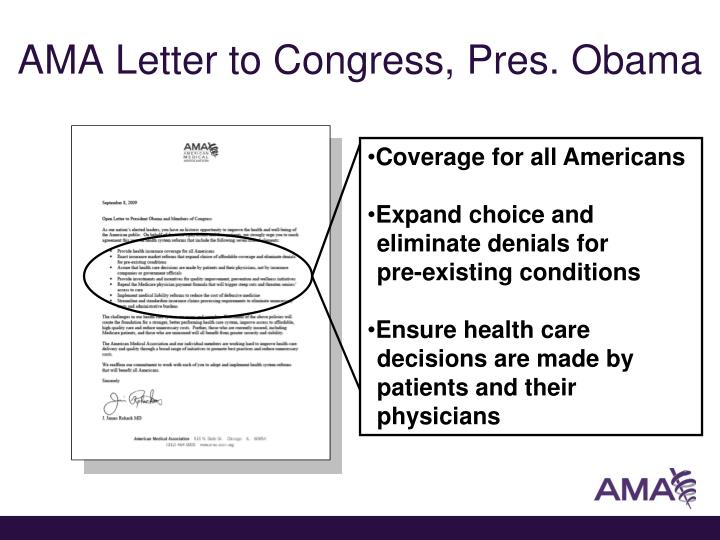 Ama letter to congress pres obama