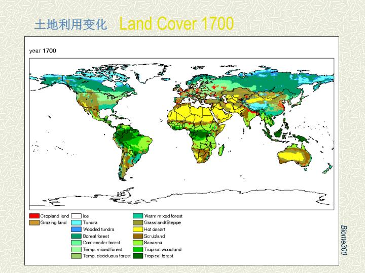 Land Cover 1700