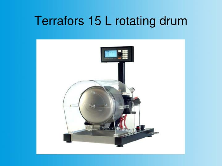 Terrafors 15 L rotating drum