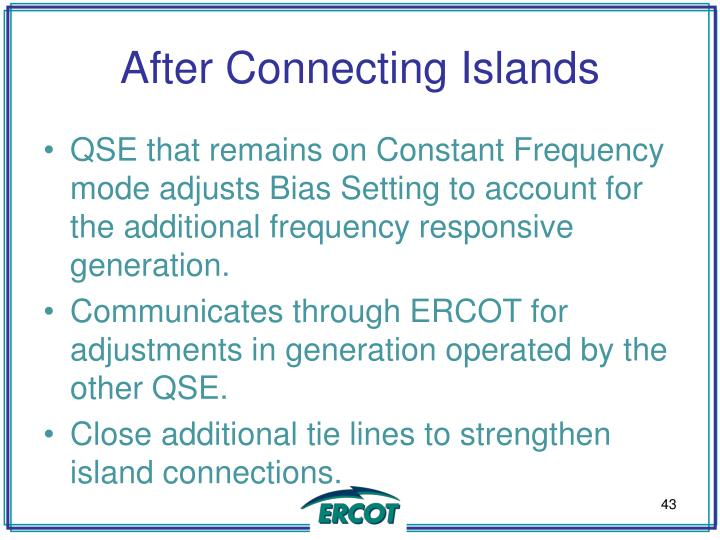 After Connecting Islands