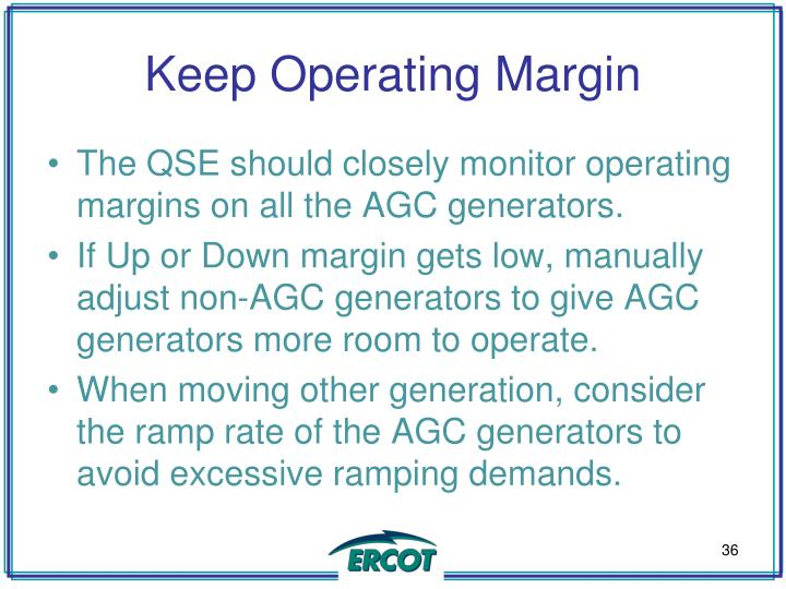 Keep Operating Margin