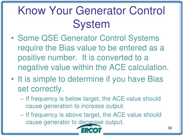 Know Your Generator Control System