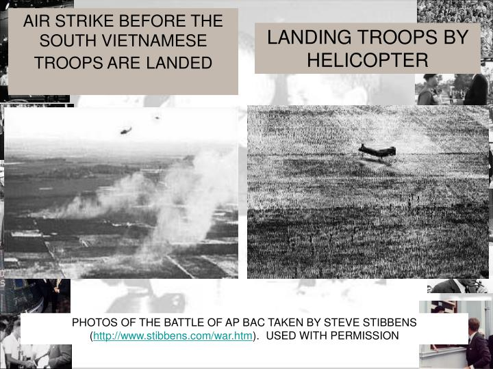AIR STRIKE BEFORE THE SOUTH VIETNAMESE TROOPS ARE