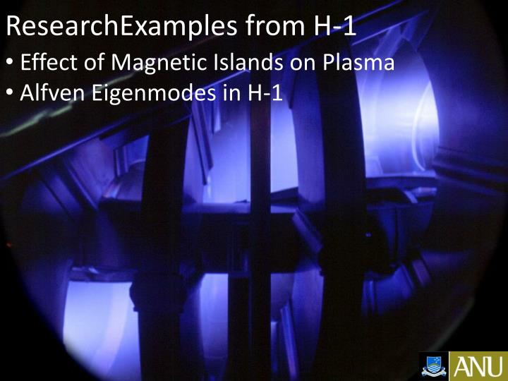 ResearchExamples from H-1