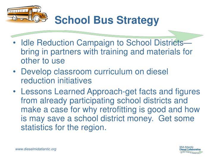 School Bus Strategy