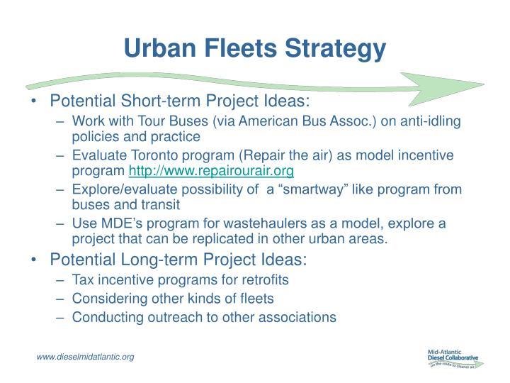 Urban Fleets Strategy