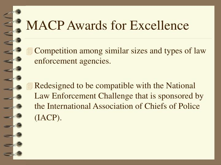 Macp awards for excellence