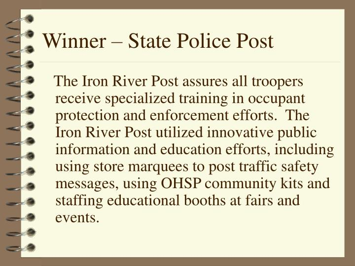 Winner – State Police Post