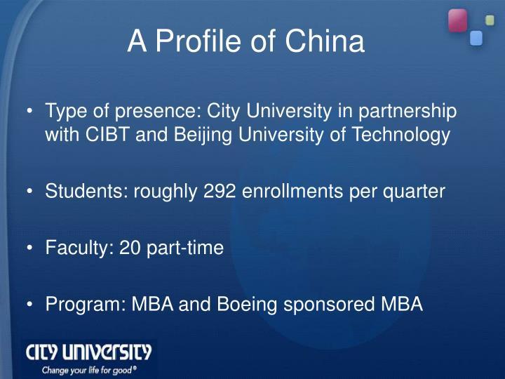 A Profile of China