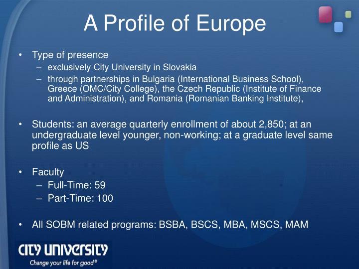 A Profile of Europe