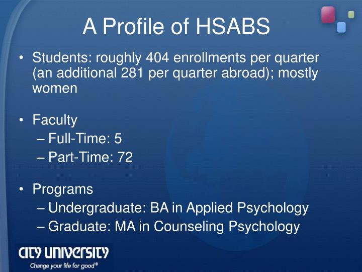A Profile of HSABS