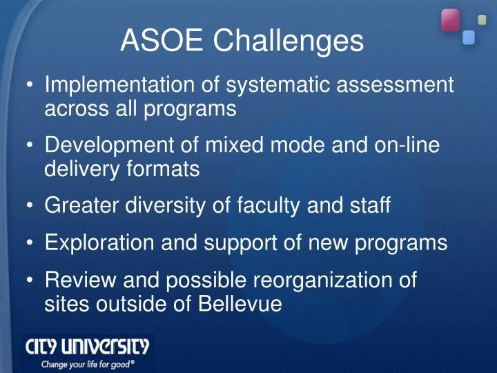 ASOE Challenges