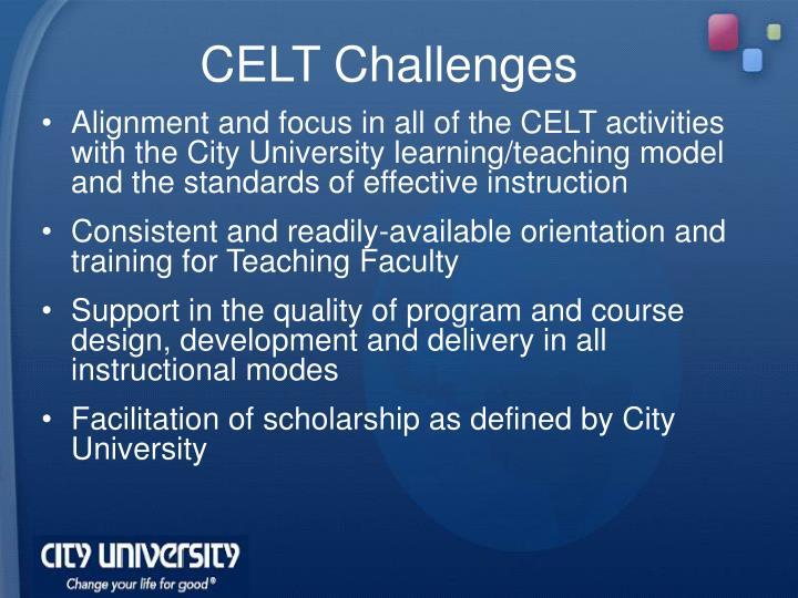 CELT Challenges