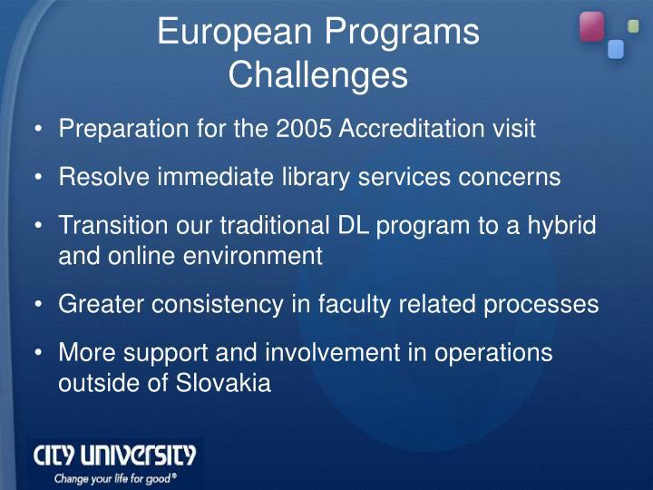 European Programs