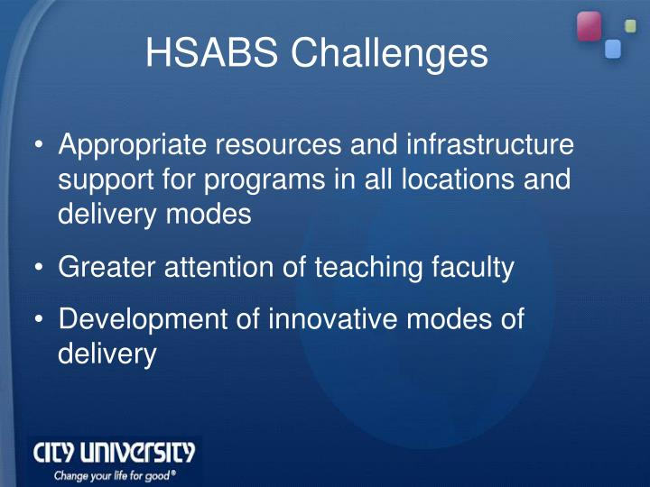 HSABS Challenges