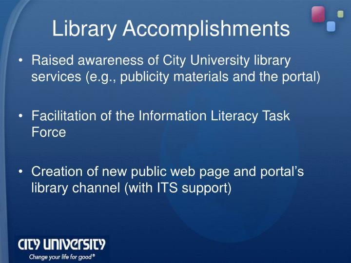 Library Accomplishments
