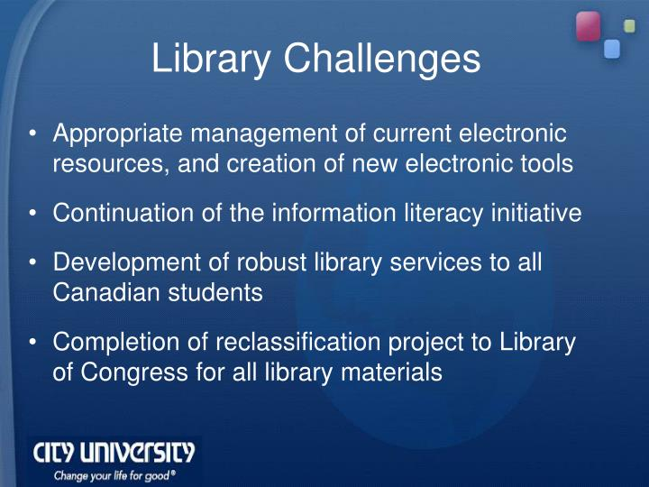 Library Challenges