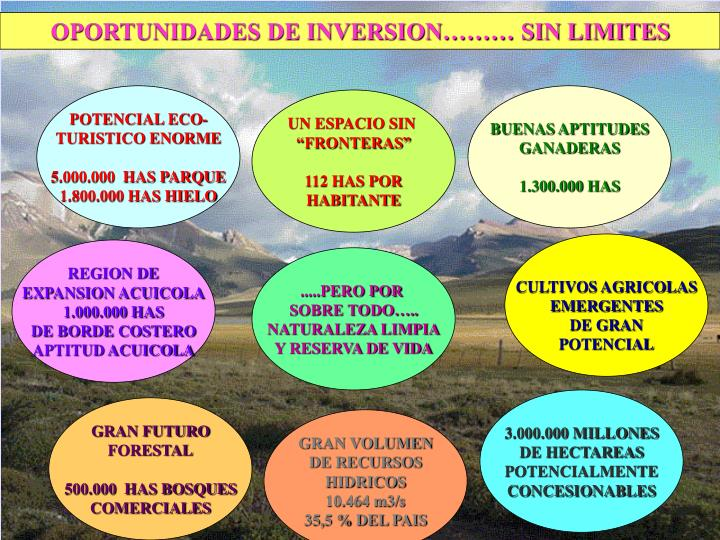 OPORTUNIDADES DE INVERSION……… SIN LIMITES