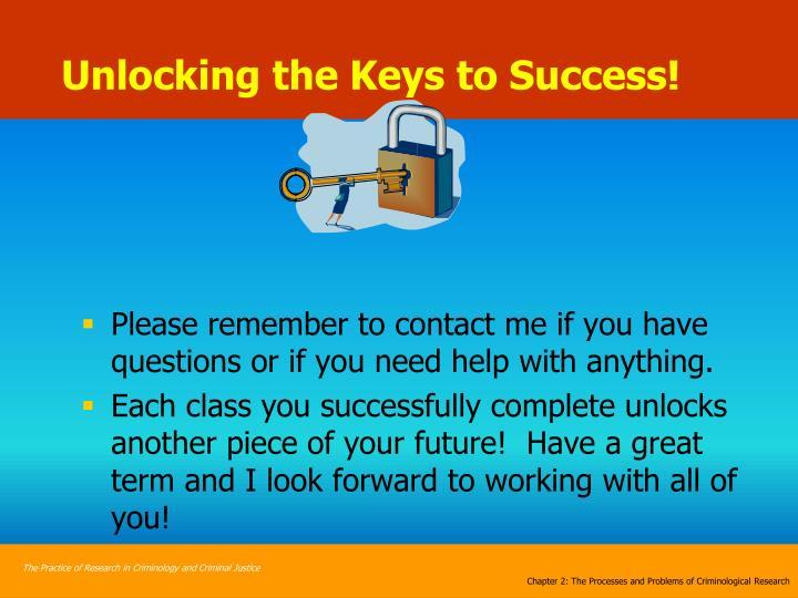 Unlocking the Keys to Success!