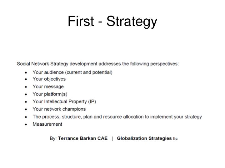 First - Strategy
