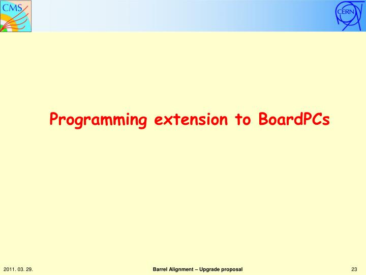 Programming extension to BoardPCs